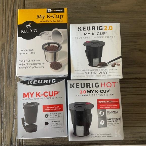 Keurig My K-Cup reusable coffee filters (4) nwot